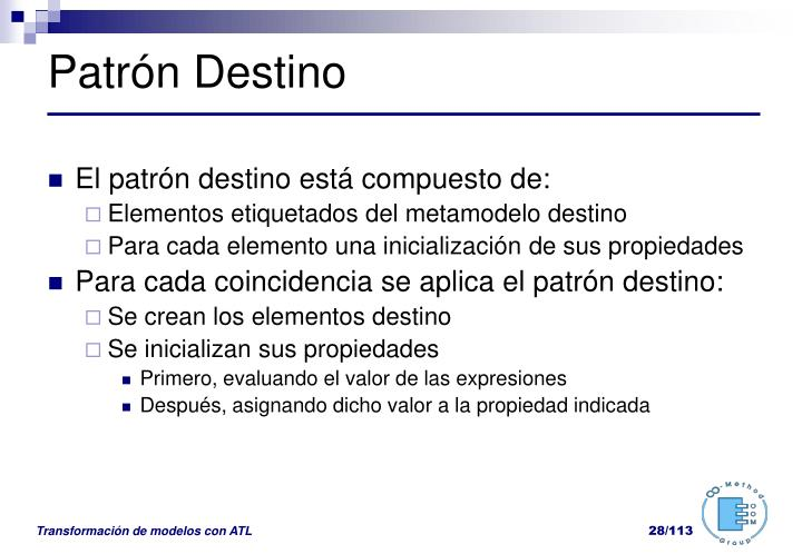 Patrón Destino