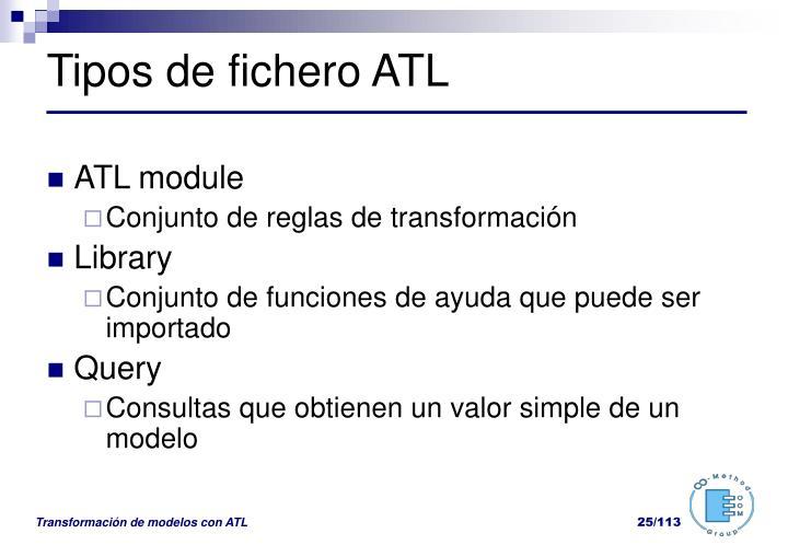 Tipos de fichero ATL