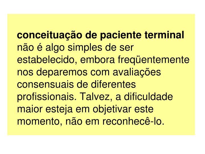 conceituao de paciente terminal