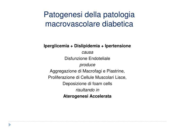 Patogenesi della patologia macrovascolare diabetica