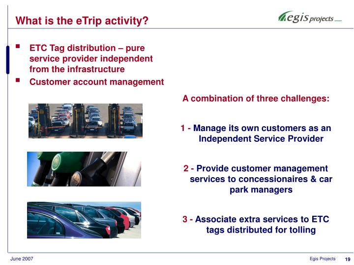 What is the eTrip activity?