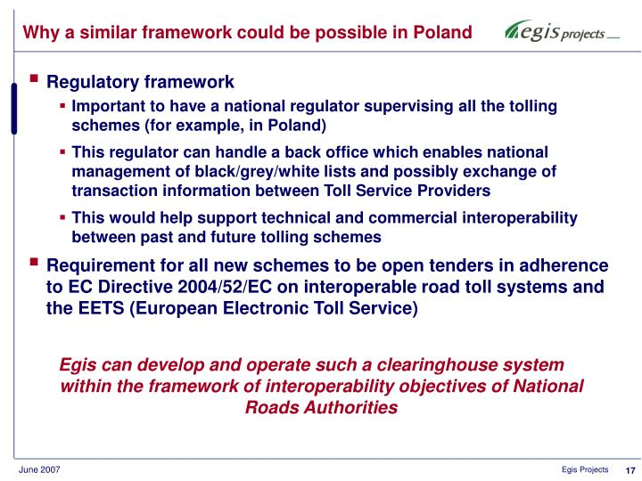 Why a similar framework could be possible in Poland