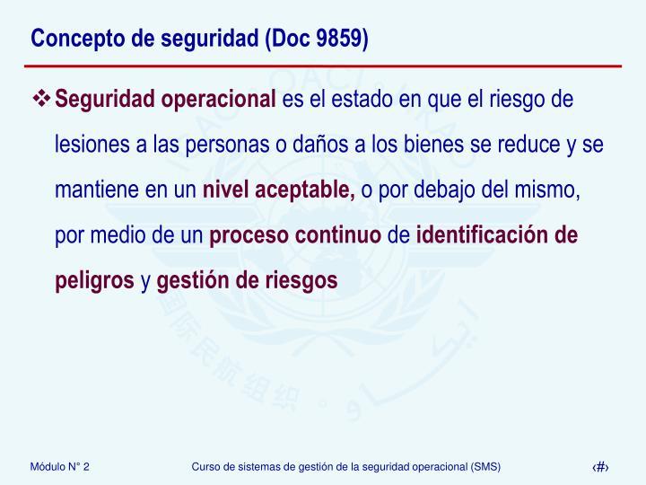 Concepto de seguridad (Doc 9859)