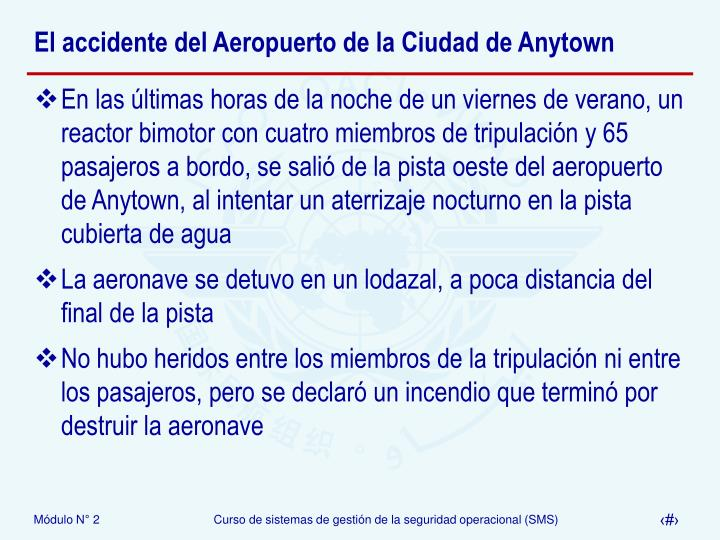 El accidente del Aeropuerto de la Ciudad de Anytown