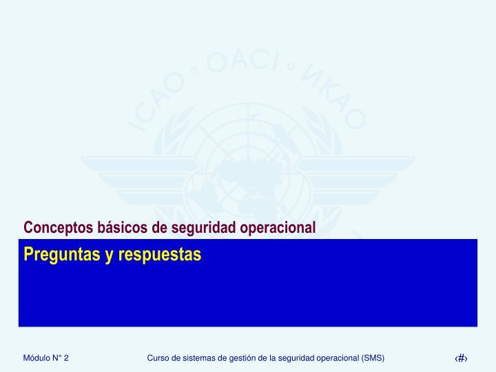 Conceptos básicos de seguridad operacional