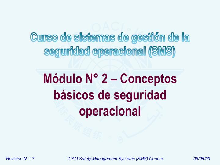 Módulo N° 2 – Conceptos básicos de seguridad operacional