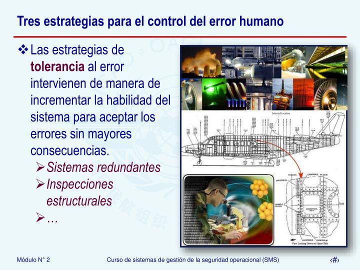 Tres estrategias para el control del error humano