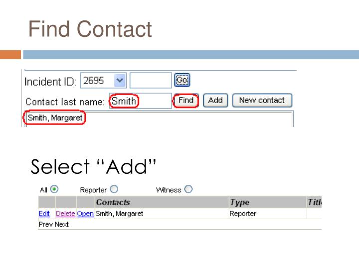 Find Contact