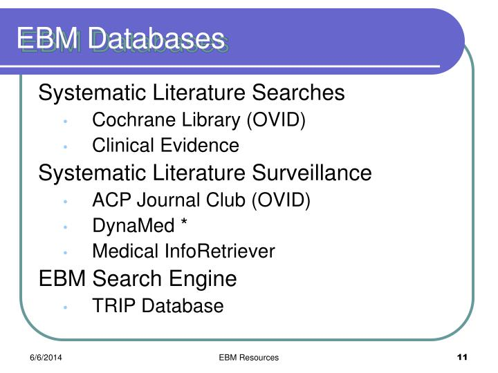 EBM Databases