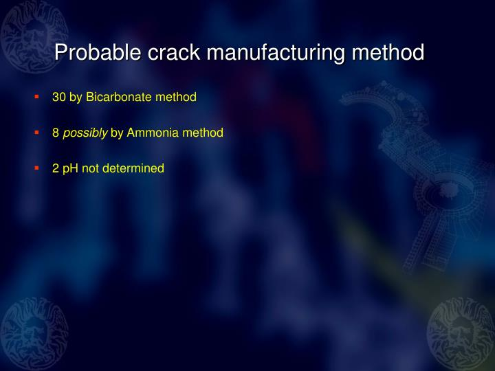Probable crack manufacturing method