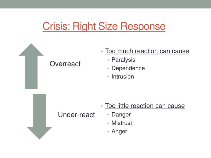 Crisis: Right Size Response