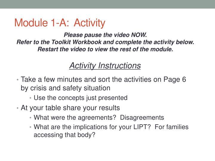 Module 1-A:  Activity