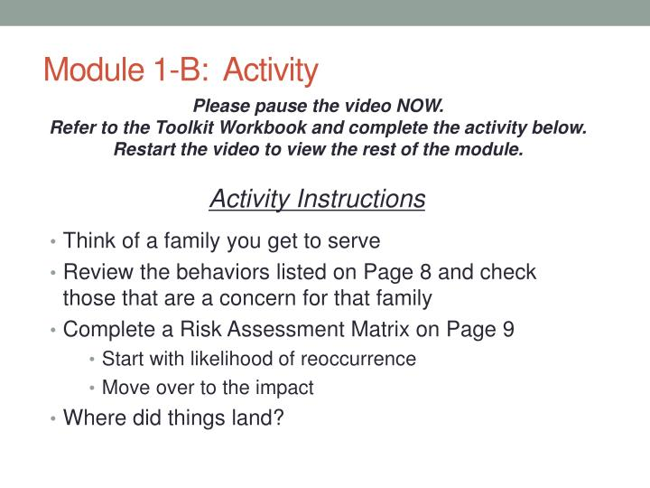 Module 1-B:  Activity