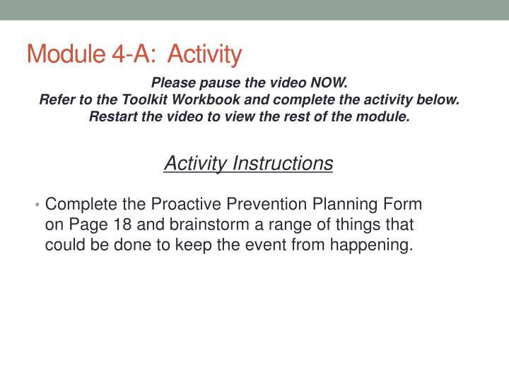 Module 4-A:  Activity