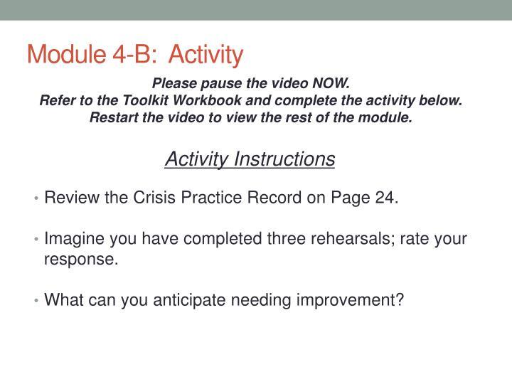 Module 4-B:  Activity