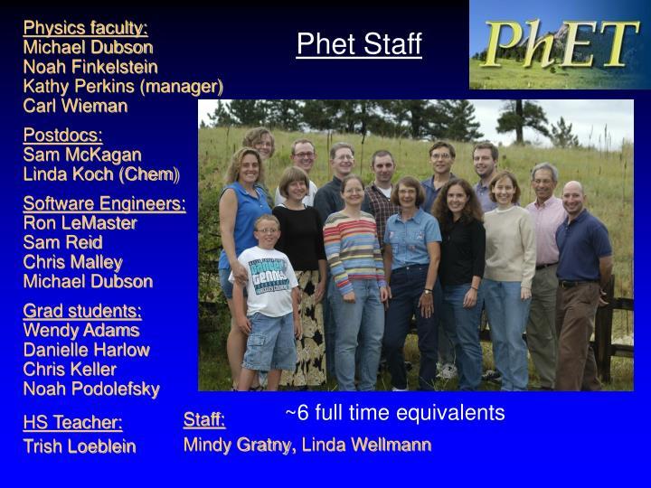 Phet Staff