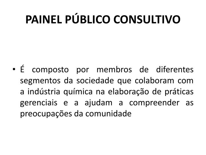 PAINEL PBLICO CONSULTIVO