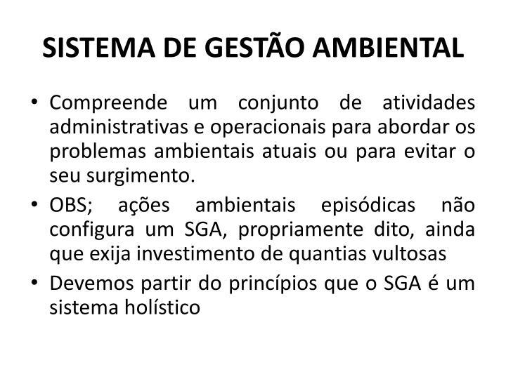 SISTEMA DE GESTO AMBIENTAL
