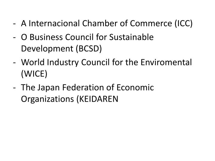 A Internacional Chamber of Commerce (ICC)