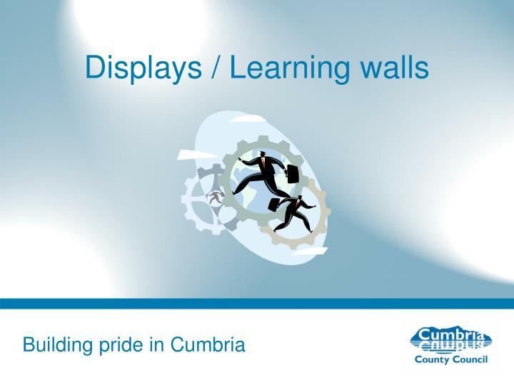 Displays / Learning walls