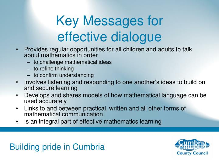 Key Messages for