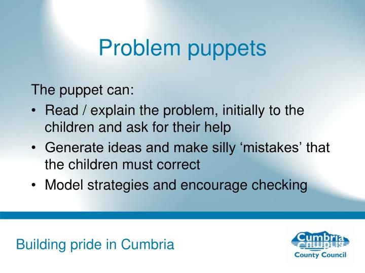 Problem puppets