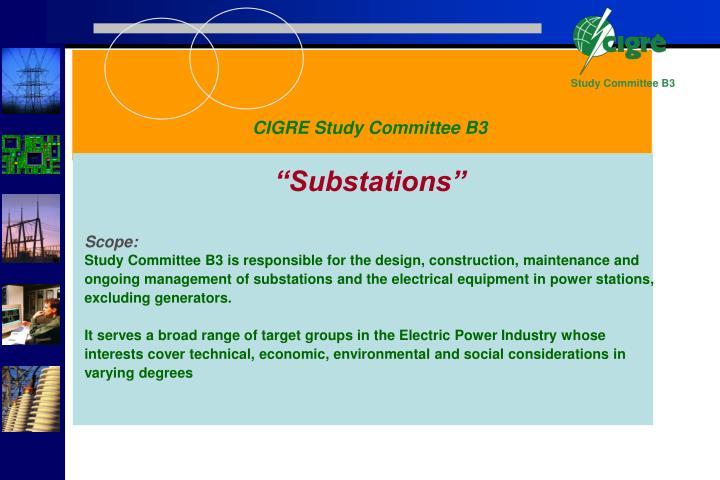 CIGRE Study Committee B3