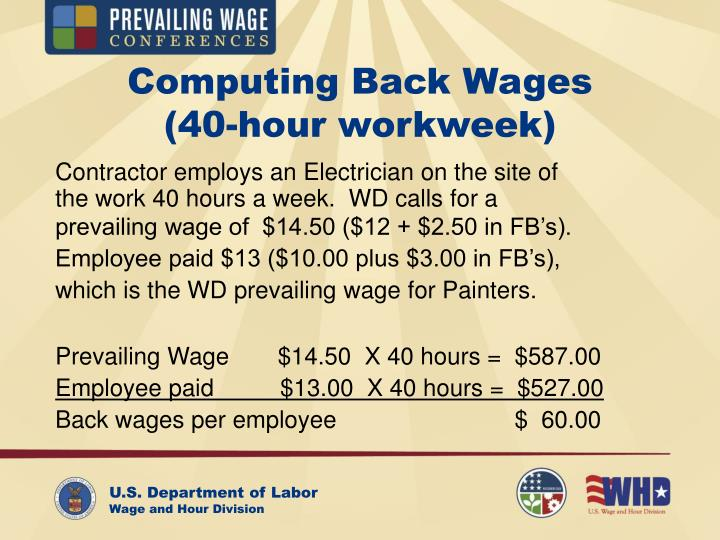 Computing Back Wages