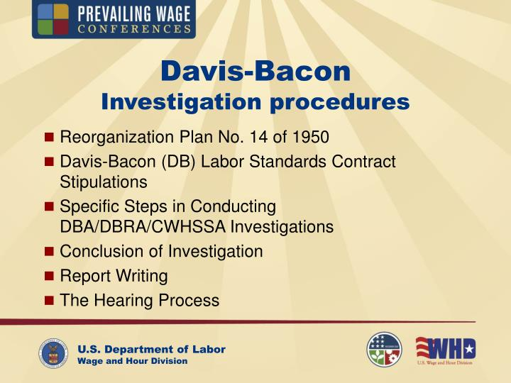 Davis bacon investigation procedures1
