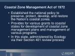 coastal zone management act of 1972
