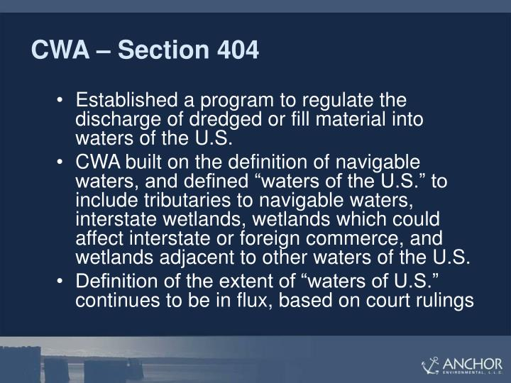 CWA – Section 404