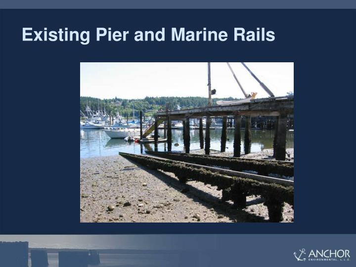 Existing Pier and Marine Rails