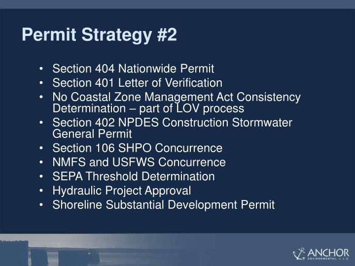 Permit Strategy #2