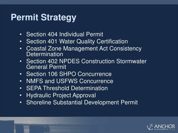 Permit Strategy