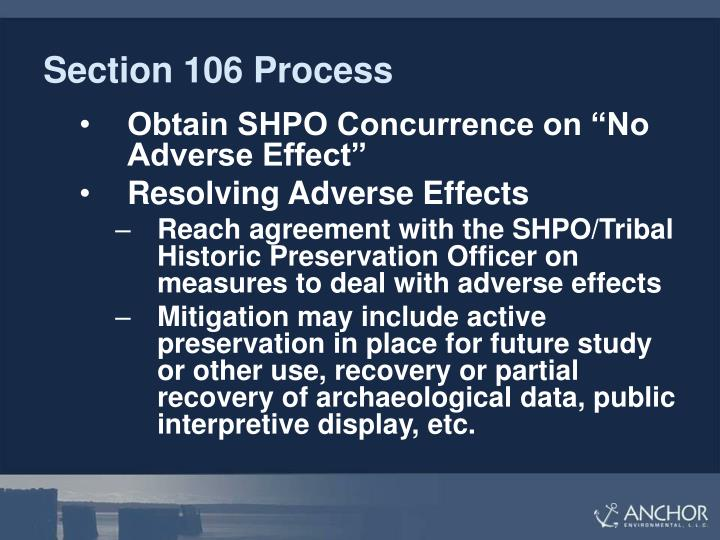 Section 106 Process