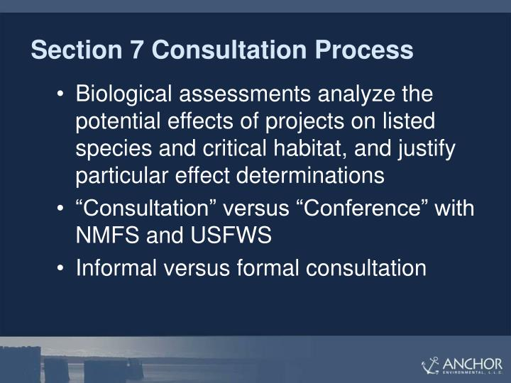 Section 7 Consultation Process