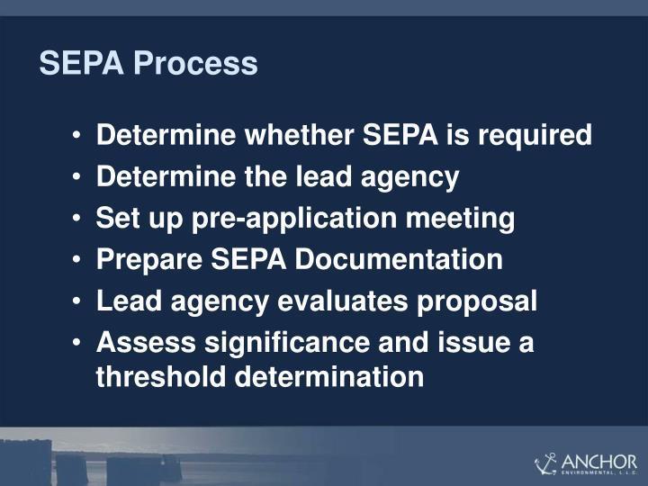 SEPA Process