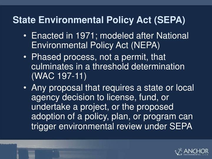 State Environmental Policy Act (SEPA)
