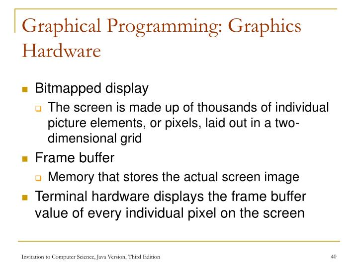 Graphical Programming: Graphics Hardware