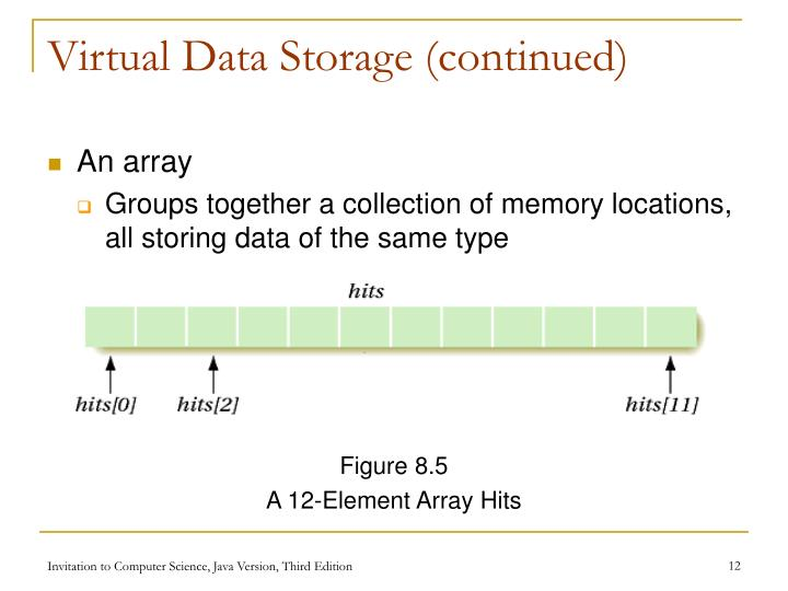 Virtual Data Storage (continued)