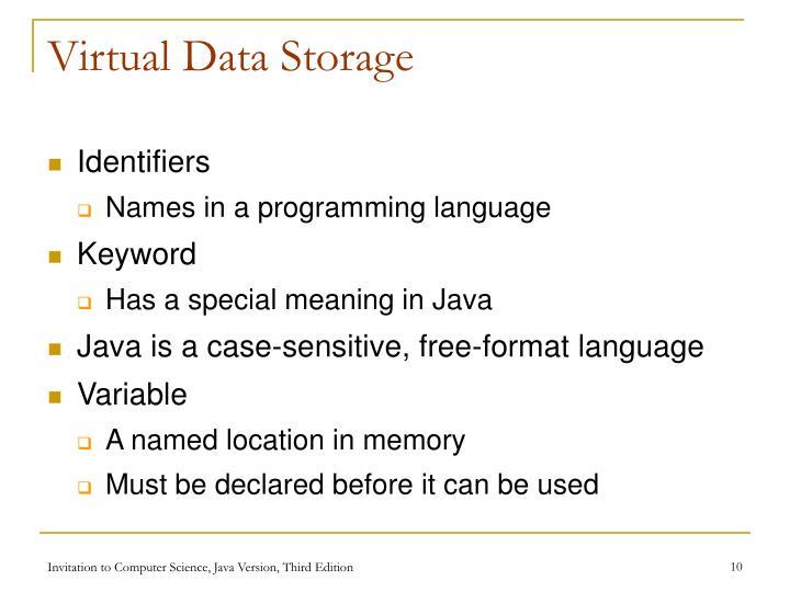 Virtual Data Storage