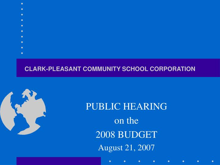 Clark pleasant community school corporation