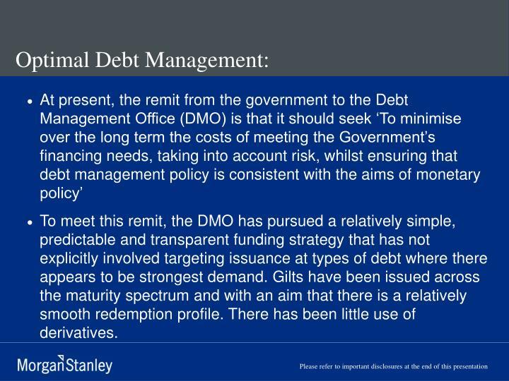 Optimal Debt Management: