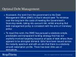 optimal debt management