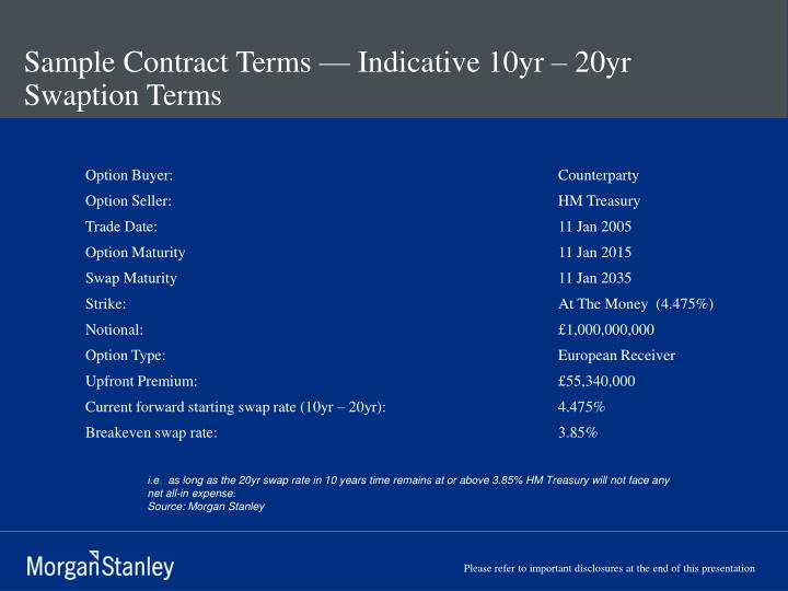 Sample Contract Terms