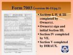form 7003 version 06 11 pg 1