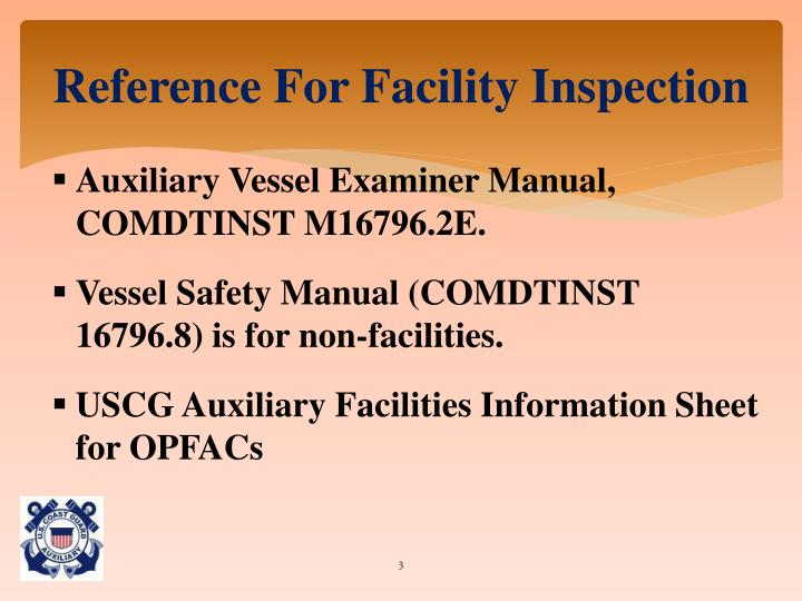 Reference For Facility Inspection