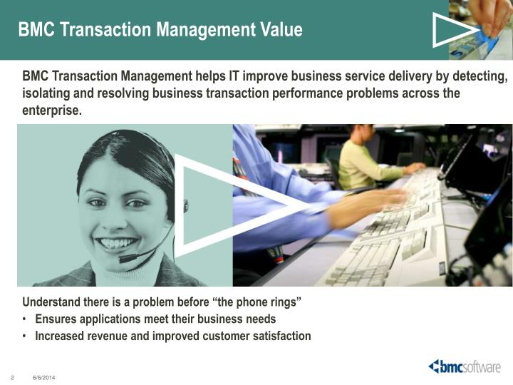 Bmc transaction management value