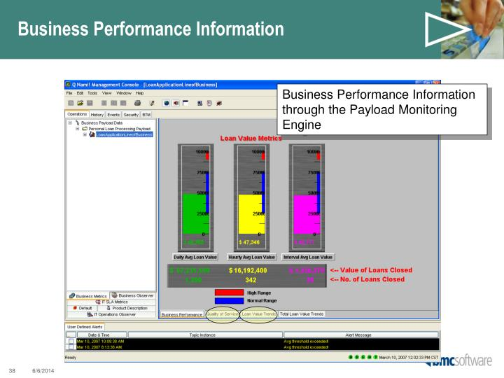 Business Performance Information
