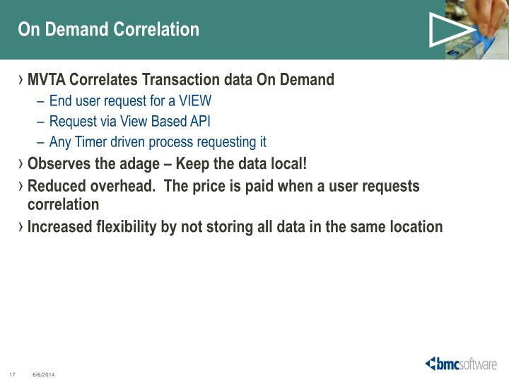 On Demand Correlation